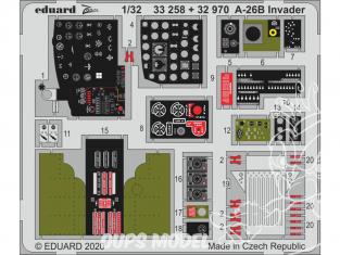 Eduard photodécoupe avion 33258 Zoom intérieur cockpit A-26B Invader Hobby Boss 1/32
