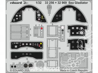Eduard photodécoupe avion 33256 Zoom amélioration Sea Gladiator Icm 1/32