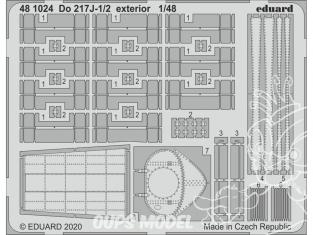 EDUARD photodecoupe avion 481024 Extérieur Dornier Do 217J-1/2 Icm 1/48