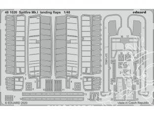 EDUARD photodecoupe avion 481026 Volets d'atterrissage Spitfire Mk.I Eduard 1/48