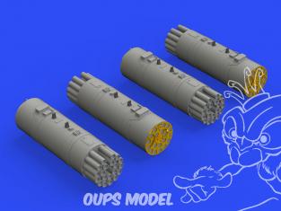 Eduard kit d'amelioration hélicoptère brassin 648575 Lance roquettes B8V20 1/48