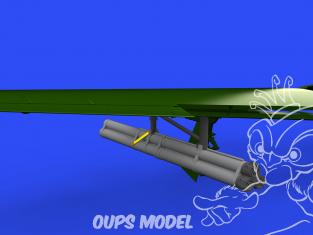Eduard kit d'amelioration avion brassin 648577 Lance roquettes Bazooka P-51D Eduard 1/48