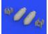 Eduard kit d'amelioration brassin 672244 Bombes US 1000lb 1/72