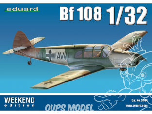 EDUARD maquette avion 3404 Messerschmitt Bf 108 WeekEnd Edition 1/32