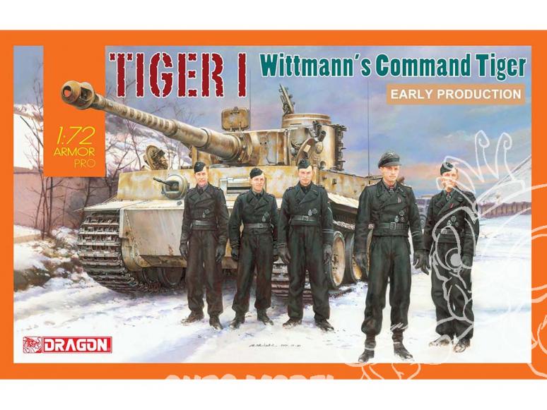 Dragon maquette militaire 7575 Tiger I Early Production avec Wittmann's Commandant de Tiger 1/72
