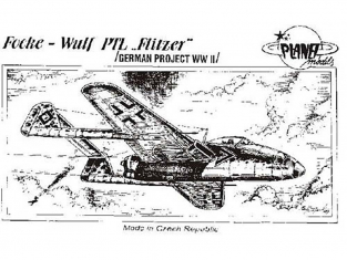 Planet Model PLT025 Focke-Wulf PLT Flitzer full resine kit 1/48