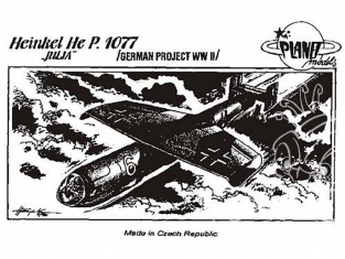 Planet Model PLT012 Heinkel He P.1077 Julia full resine kit 1/48
