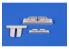 Cmk kit d'amelioration 7444 Baies d'armes à feu Heinkel He 162A Kit Special Hobby 1/72