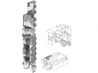 CMK Maquettes militaire mv095 Locomotive allemande BR 52 Blindage pour chaudière de locomotive kit Hobbt Boss 1/72