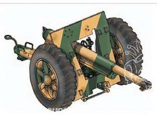 Planet Maquettes Militaire mv091 75 mm Canon de campagne Schneider 1938 theatre européen et Aficain 33 full resine kit 1/72