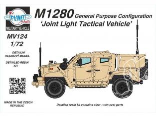 Planet Maquettes Militaire mv124 Véhicule tactique léger mixte de configuration à usage général M1280 full resine kit 1/72