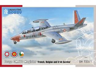 Special Hobby maquette avion 72371 Fouga CM.170 Magister Service français, belge et irlandais 1/72