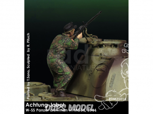 Rado miniatures figurines RDM35014 Achtung Jabo ! - W-SS Panzer crewman w/MG34 1944 1/35