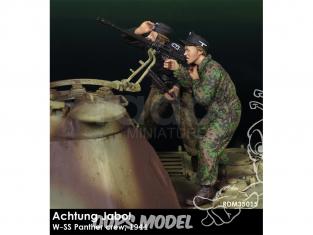 Rado miniatures figurines RDM35015 Achtung Jabo ! - W-SS Panzer crew 1944 1/35