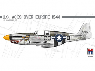 Hobby 2000 maquette avion 72024 U.S. Aces over Europe 1944 P-51 1/72