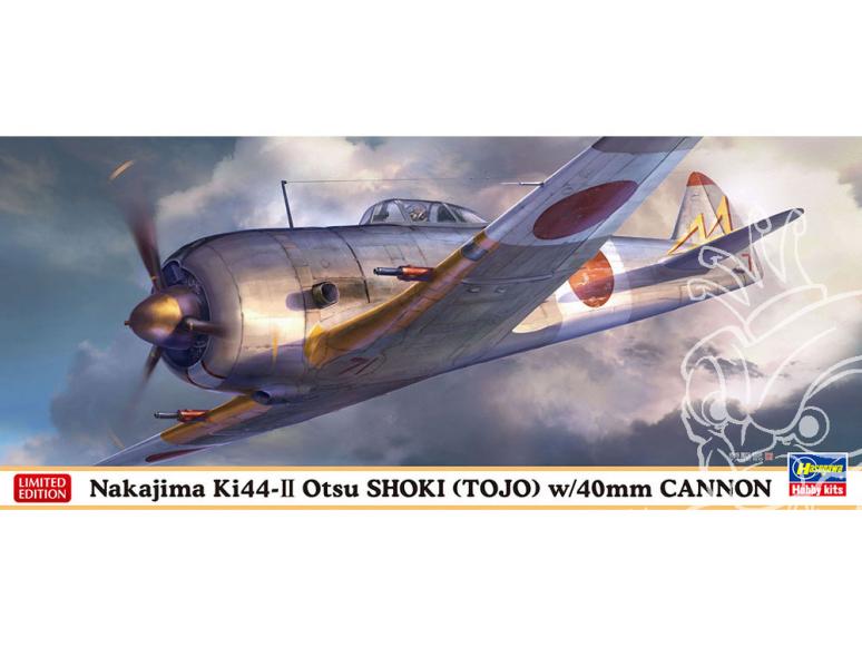 Hasegawa maquette avion 02329 Nakajima Ki 44-2 Shoki (TOJO) chasseur monoplace équipé d'un canon de 40mm 1/72