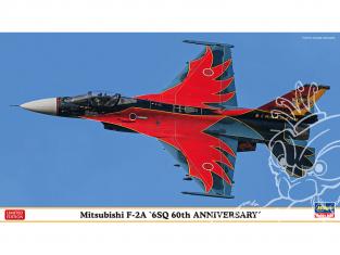 Hasegawa maquette avion 02331 Mitsubishi F-2A 6SQ 60e anniversaire 1/72