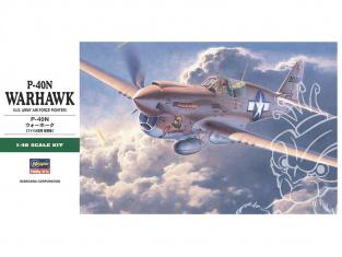 HASEGAWA maquette avion 19188 P-40N Warhawk 1/48