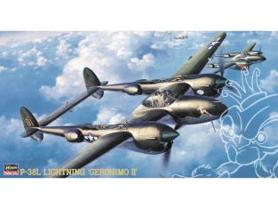 HASEGAWA maquette avion 09102 P-38L Lightning Jeronimo II 1/48