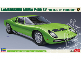 Hasegawa maquette voiture 20439 Lamborghini Miura P400 SV «Version détaillée» 1/24