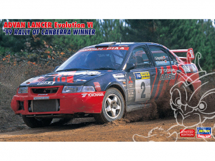 Hasegawa maquette voiture 20443 Advan Lancer Evolution VI «Vainqueur du rallye de Canberra en 1999» 1/24