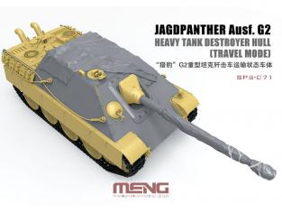Meng maquette voiture SPS-071 Couverture de coque et canon pour destroyer de char lourd G2 (mode voyage) 1/35