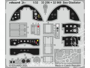Eduard photodécoupe avion 32969 Amélioration Sea Gladiator Icm 1/32
