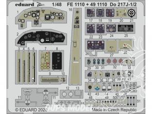 EDUARD photodecoupe avion 491110 Amélioration Dornier Do 217J-1/2 Icm 1/48