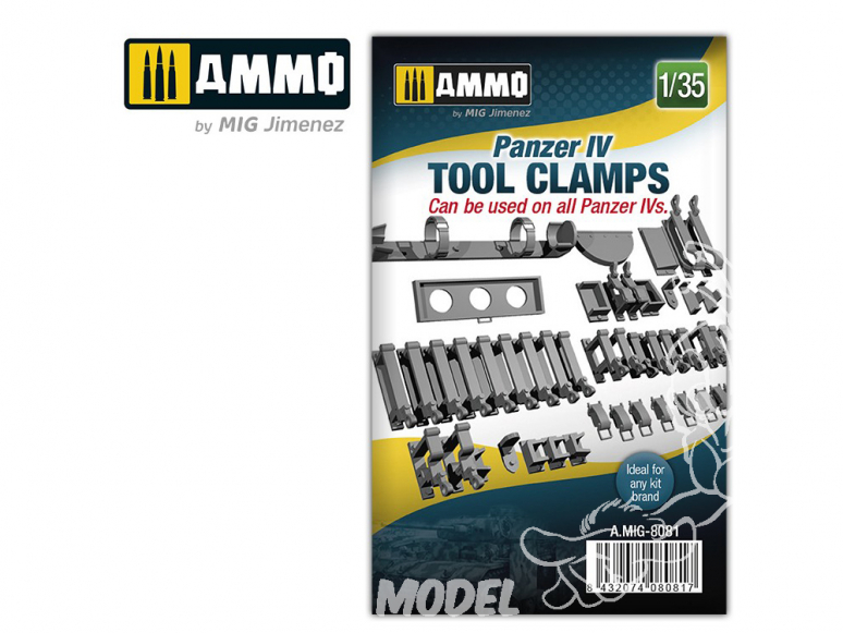Ammo Mig accessoire 8081 Panzer IV tool clamps 1/35