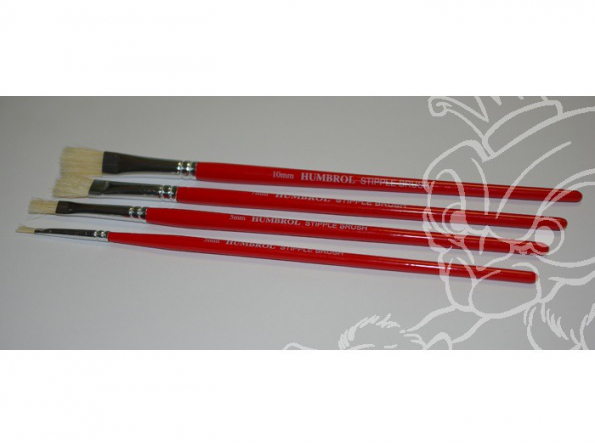 HUMBROL Pinceau Blister Stipple brushes 4 Pinceaux AG4303