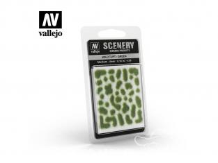 Vallejo Touffe sauvage SC406 Vert hauteur de l'herbe 4mm