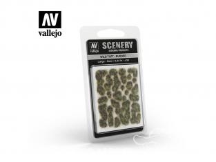 Vallejo Touffe sauvage SC414 brûlé hauteur de l'herbe 6mm