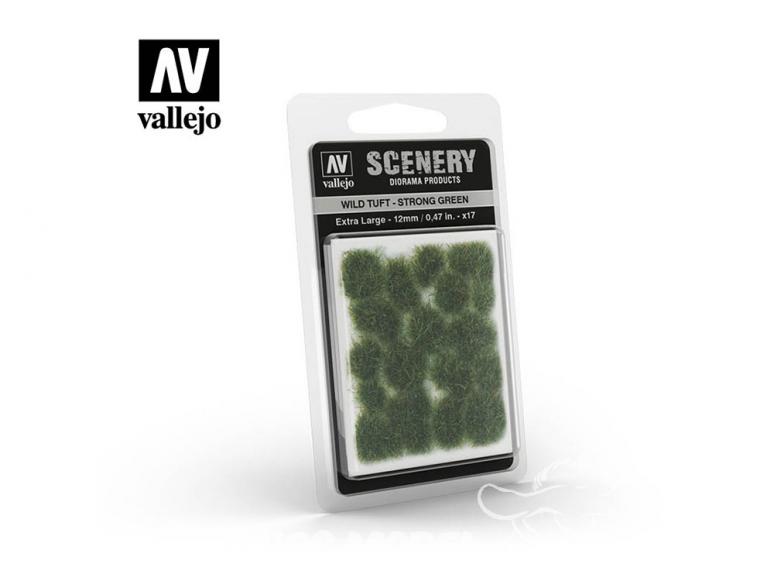 Vallejo Touffe sauvage SC427 Vert Foncé hauteur de l'herbe 12mm