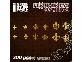 Green Stuff 504712 Symboles Fleur de Lys