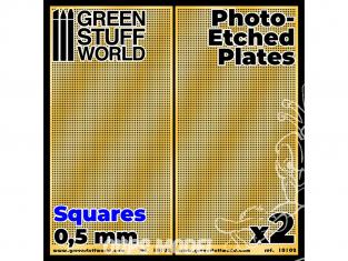 Green Stuff 506013 Plaques de Photogravées Petits Carrés