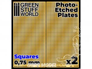 Green Stuff 506020 Plaques de Photogravées - Carrés Moyens