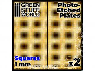 Green Stuff 506037 Plaques de Photogravées Grands Carrés de 1mm