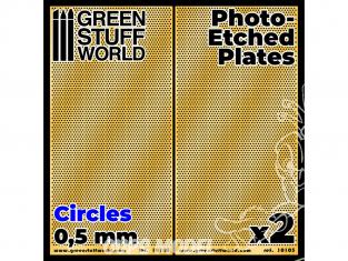 Green Stuff 506044 Plaques de Photogravées Petits Cercles de 0,5mm