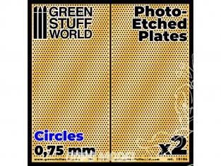 Green Stuff 506051 Plaques de Photogravées Cercles Moyens de 0,75mm