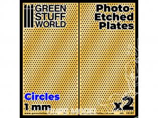 Green Stuff 506068 Plaques de Photogravées Grands Cercles de 1mm