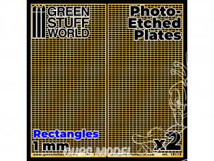 Green Stuff 506112 Plaques de Photogravées Grands Rectangles de 1mm