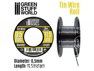 Green Stuff 507072 Rouleau d'étain de 0.5 mm
