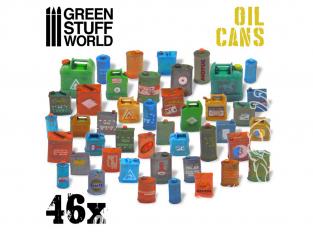 Green Stuff 507225 46 Bidons de Huile en Résine 1/35 et 1/48