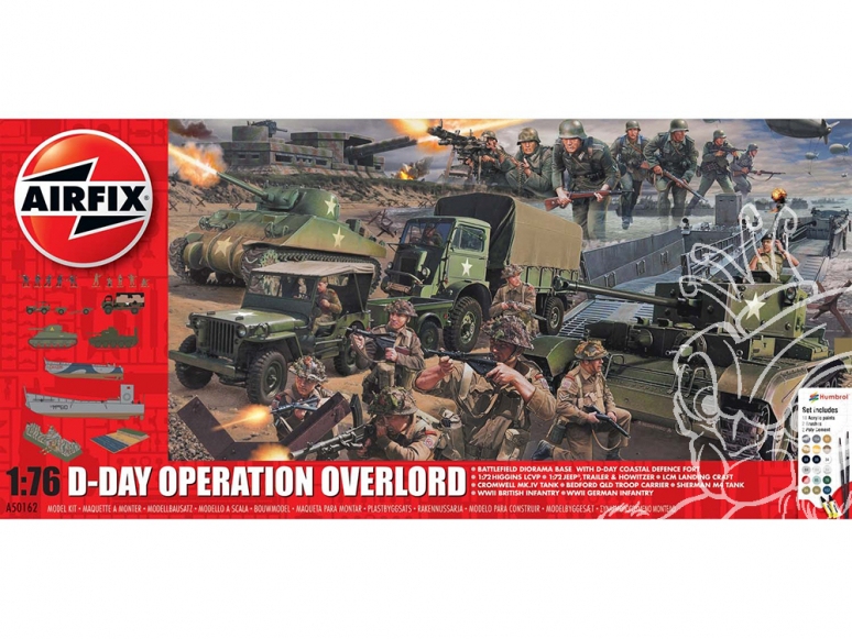 Airfix maquette avion 50162 Diorama D-Day Operation Overlord Set 1/76