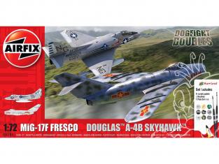 Airfix maquette avion A50185 Mig 17 et Douglas Skyhawk Dogfight Double 1/72