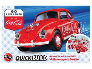 Airfix maquette voiture J6048 QUICKBUILD (idem que lego) Coca-Cola® VW Beetle