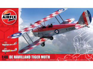 Airfix maquette avion A04104 de Havilland D.H.82a Tiger Moth 1/48