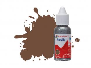 HUMBROL Peinture Acrylique 098 Chocolat Mat Flacon compte-gouttes 14ml