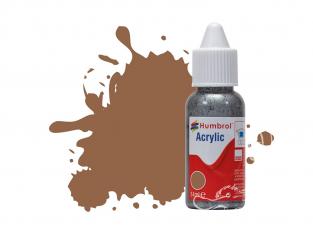 HUMBROL Peinture Acrylique 110 Bois naturel Mat Flacon compte-gouttes 14ml