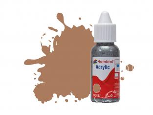 HUMBROL Peinture Acrylique 118 Ocre U.S. Mat Flacon compte-gouttes 14ml